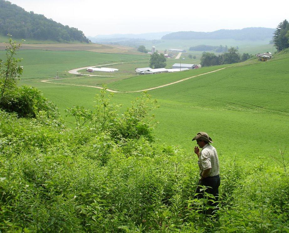 The Bragger family farm.